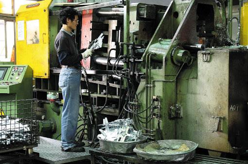 生產製造項目-鋅合金壓鑄