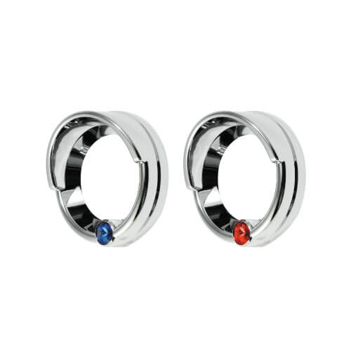 3002 SMALL GAUGE COVER WITH PLASTIC JEWEL BLUE/RED